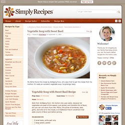 Vegetable Soup with Sweet Basil Recipe