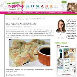Easy Vegetable Pot Stickers Recipe
