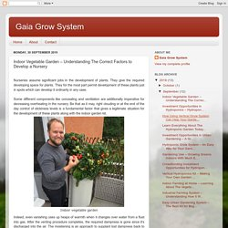 Gaia Grow System: Indoor Vegetable Garden – Understanding The Correct Factors to Develop a Nursery