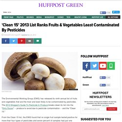 'Clean 15' 2013 List Ranks Fruits & Vegetables Least Contaminated By Pesticides