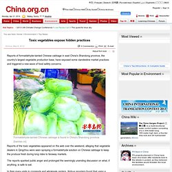 CHINA_ORG_CN 08/05/12 Toxic vegetables expose hidden practices