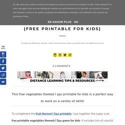 Vegetables Themed I Spy Game {Free Printable for Kids}