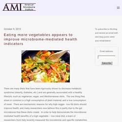 Eating more vegetables appears to improve microbiome-mediated health indicators — The American Microbiome Institute