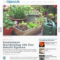 Ask Organic Gardening: Vegetables in Pots: Organic Gardening