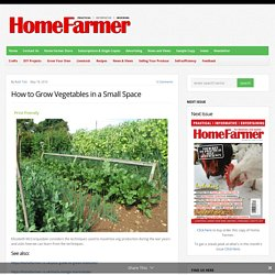 How to Grow Vegetables in a Small Space - Home Farmer