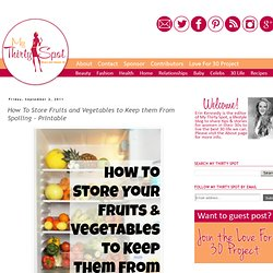 How To Store Fruits and Vegetables to Keep them From Rotting