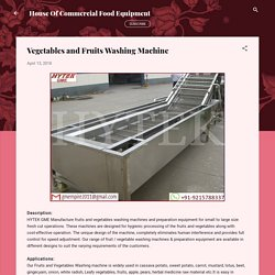 Vegetables and Fruits Washing Machine
