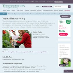 Vegetables: watering/RHS Gardening