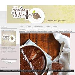 Gâteau végétal ultra-fondant choco-coco { Avec ou sans gluten } - Les recettes de Juliette