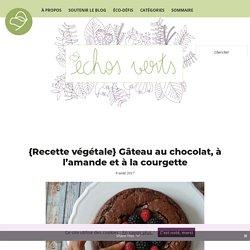 Gâteau végétalien au chocolat, à l'amande et à la courgette