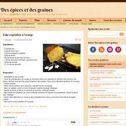 Cake végétalien à l'orange - Recettes végétales et bio
