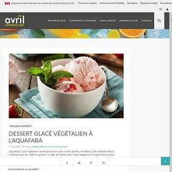 Dessert glacé végétalien à l'aquafaba