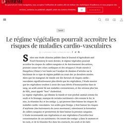 Le régime végétalien pourrait accroître les risques de maladies cardio-vasculaires - La Parisienne