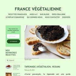 Tapenade (végétalien, vegan) — France végétalienne