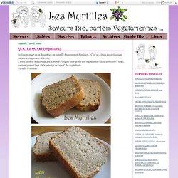 QUATRE QUART (végétalien) - Les Myrtilles Bio - Recettes de Cuisine Bio, Végétariennes, à tendance Asiatique ...