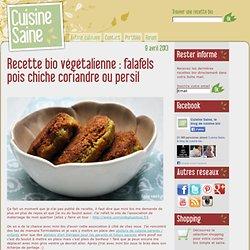 falafels pois chiche coriandre ou persil