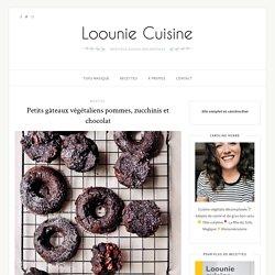 Petits gâteaux végétaliens pommes, zucchinis et chocolat – Loounie Cuisine