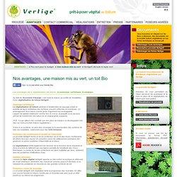 Vertige® - végétalisation toiture, toiture végétale, toiture végétalisée, toit végétal - maison écologique éco toiture verte toit vert végétalisation isolation phonique protection incendie