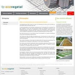 Toitures et dalles végétalisées, parkings engazonnés : Ecovegetal, entreprise développement durable