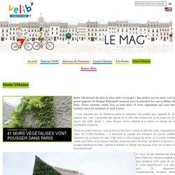 41 murs végétalisés vont pousser dans Paris