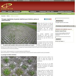 Am nagement am nagement ext rieur pearltrees for Dupont ground grid stabilisateur de graviers