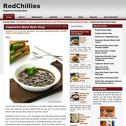 Vegetarian Black Bean Soup | RedChillies