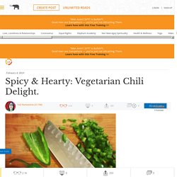 Spicy & Hearty: Vegetarian Chilli Delight