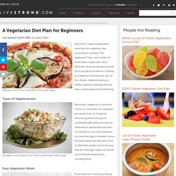 A Vegetarian Diet Plan for Beginners