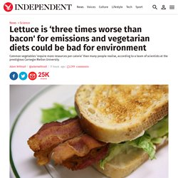 Lettuce is 'three times worse than bacon' for emissions and vegetarian diets could be bad for environment