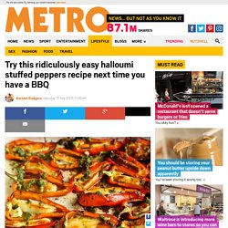Vegetarian meals: How to make easy halloumi stuffed peppers next time you have a BBQ