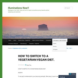 HOW TO SWITCH TO A VEGETARIAN/VEGAN DIET.