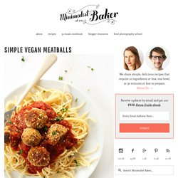 Simple Vegetarian Meatballs