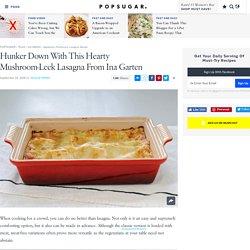 Lasagnes aux champignons et poireau