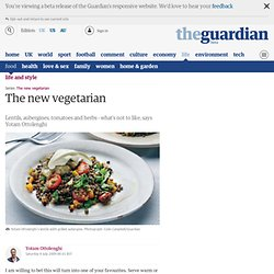 The new vegetarian: Yotam Ottolenghi prepares lentils with grilled aubergines