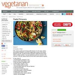 Vegetarian and Vegan Paella Primavera