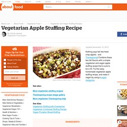 Vegetarian Apple Stuffing Recipe