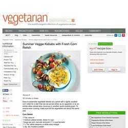 Vegetarian and Vegan Veggie Kebabs