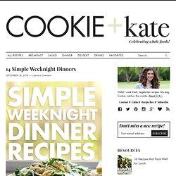 14 Simple, Vegetarian Weeknight Dinners