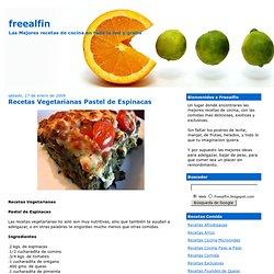 Recetas Vegetarianas Pastel de Espinacas