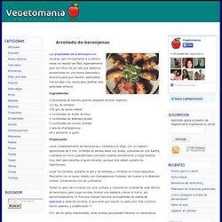 Arrollado de berenjenas > Recetas Vegetarianas - Vegetomania