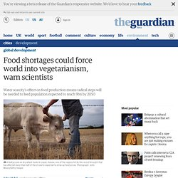 Food shortages could force world into vegetarianism, warn scientists