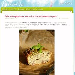 Cake salé végétarien au chèvre et au tofu lactofermenté au pesto « D'Âme Bio, Recettes de cuisine bio, sans gluten et sans lait – Jardin potager bio