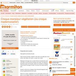 Croque monsieur végétarien (ou croque mademoiselle!) : Recette de Croque monsieur végétarien (ou croque mademoiselle!)
