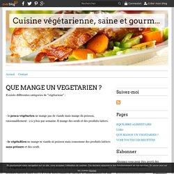 Que mange un végétarien ?