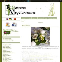 Occasions - Mariage Végétarien - Barbecue Végétarien - Menu de Noël 2010 - Buffet Végétarien - Menu de Noël 2011