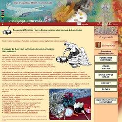 Cuisine végétarienne indienne: formules & recettes pour la cuisine ayurvédique et la cuisine indienne. information sur les cours de cuisine végétarienne