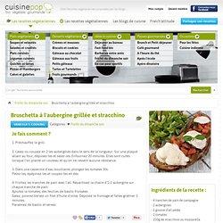 Bruschetta à l'aubergine grillée et stracchino - Brunch et Petit-déjeuner