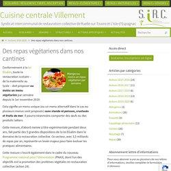 Des repas végétariens dans nos cantines – Cuisine centrale Villement