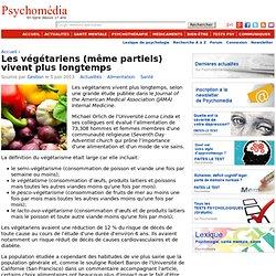 Les végétariens (même partiels) vivent plus longtemps