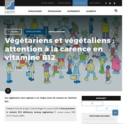 Végétariens et végétaliens : attention à la carence en vitamine B12 - CERIN